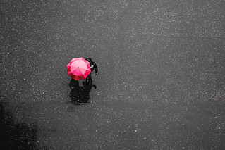 Pink umbrella in London