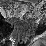 Down the Falls and off into the Valley Beyond... (Black & White) thumbnail