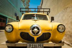 Yellow Studebaker (ISP Bruno Laplante) Tags: yellow studebaker car old vintage chrome cuba havana street headlights hood ornament