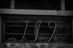 1-1-9 (annapolis_rose) Tags: vancouver dtes downtowneastside numbers address blackwhite