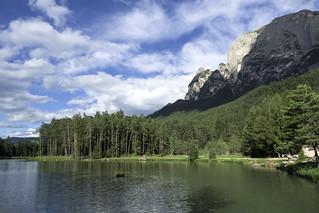 Alto Adige (Italy) - Siusi: laghetto di Fiè  Huber Weiher (Laghetto superiore)