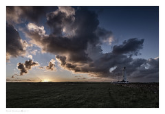 Nash Point (MarkWaidson) Tags: nash point wales lighhouse cloud sunrise sheep