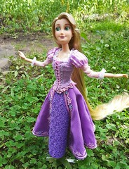 Completely Free! (ozthegreatandpowerful) Tags: disney store tangled rapunzel doll limited edition designer ooak oneofakind custom reroot repaint dress embroidery design mother gother pink purple heliotrope dolls