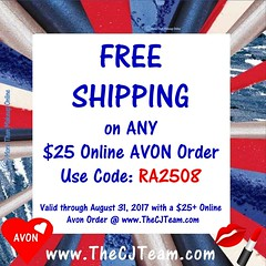 Avon Free Shipping (cjteamonline) Tags: augustfreeshipping avon avonaugustfreeshipping avoncouponcodes avonfreeshipping cjteam couponcodes finalday freeavon freeshipping freebiefriday goingfast julyfreeshipping lastday limitedquantities limitedtime onedayonly onetimeuse onlinepromotion orderavononline ordertoday promotion ra2508 sale thecjteam today whilesupplieslast