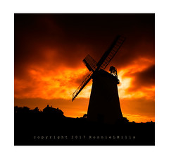 Millers Fire   [Explored] (RonnieLMills) Tags: ballycopeland windmill moss road millisle county down morning sky silhouette millers fire explore explored 26817