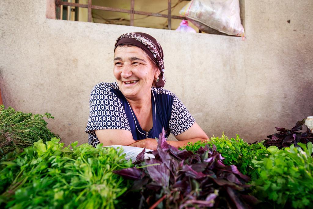 Georgian women on the local market.