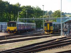 150120 & 153380 Exeter TMD (Marky7890) Tags: 153380 class153 supersprinter gwr 150120 class150 sprinter exeterstdavids railway devon devonmainline train