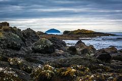 Ailsa Craig viewed from Dunure, South Ayrshire,Scotland (stuartallan38) Tags: ailsacraig water iamnikon nikon70200f4 nikond7100 coastal coast westcoast westscotland dunure view scottish scotland scenery scenic autumn rock rocks