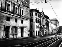 Via delle Botteghe Oscure, Rome, Italy. (Massimo Virgilio - Metapolitica) Tags: monochrome blackandwhite streetphotography street italy rome viadellebottegheoscure