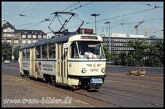 1602-1993-08-14-1-Hauptbahnhof (steffenhege) Tags: leipzig strasenbahn streetcar tram ckd t4d 1602