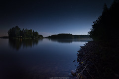 Lit by the Moon (laurilehtophotography) Tags: kuu leppälahti suomi finland jyväskylä moon light dark night stars sky longexposure landscape nightscape water lake island nikon d610 samyang 14mm autumn fall syksy yö tähtitaivas maisema