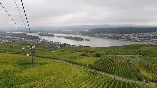 Rüdesheim am Rhine with Bigen across the other side