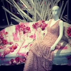 Pink and White Display (booboo_babies) Tags: pink white mannequin glendale california storedisplay sofa glendalegalleria sanfernandovalley losangelescounty art windowdisplay shopwindow mall