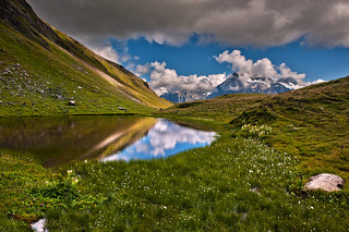 Hiking in Switzerland ; Grindelwald , First , above Bachsee . No. 8967.