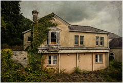 Dereliction (Camera...Kid) Tags: derelict abandoned house overgrown roof chimney window trees sky clouds dark texture duffryn gardens vale glamorgan wales