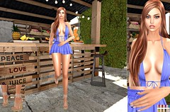 Dress by Mint, Nails by SlackGirl, Sandals by Furtacor, Designer Circle163 (lisana1) Tags: catwabento 7deadlyskins mesangeeyes maitreya hairemotions mint slackgirl furtacor bauhausmovement designercircle163 anybodyevent hipstermenevent
