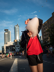 cotton candy face (antoine.cbenoit) Tags: cotton candy festival street photography urban balloon montreal face obscured