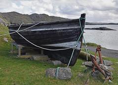 The Boat Fix.. (Harleynik Rides Again.) Tags: valtos beach boat oldwoodenboat outerhebrides isleoflewis scotland harleynikridesagain
