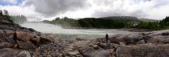 Laksforsen (In Explore) (Steenjep) Tags: nordkap ferie holiday bus norge sverige finland norway sweden elv flod river stream vand water laksfossen laksforsen foss waterfall