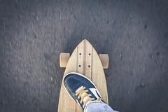 In the deck. (Pablin79) Tags: street light me colors asphalt foot fun selfportrait ride textures deck action argentina longboard misiones posadas movinig