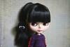 (Echo (EchoForDolls)) Tags: blythe doll factoryblythe brunet knitting sweater dinosaur echofordolls