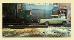 Warehouse Trucks 1 (gpholtz) Tags: diorama miniatures 118 diecast pickup truck chevrolet cameo 1955 mack