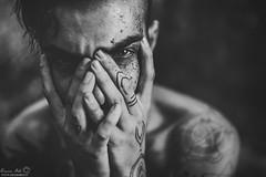 Andrea (Grazia Mele) Tags: blackandwhite boy guy bw expressive emotions emotive male eyes 50mm nikond750
