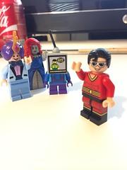 DC's The Tuxedo, Lady Granite, and Flatscreen (Numbuh1Nerd) Tags: lego purist custom superheroes minifigures tom kenny cartoon network