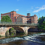 Belper North Mill and the Derwent thumbnail