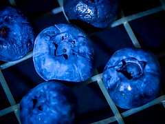 219.365 Serving Blueberries (marcy0414) Tags: stayinghealthy macromondays macromonday blueberries blue tennis tennisracquet project365 macro