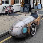 Streamlined Recumbent Tricycle, parked in Shipston-on -Stour. thumbnail