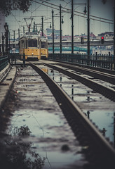 Trams in Budapest (Vagelis Pikoulas) Tags: travel tram budapest hungary europe canon 6d rain tamron 70200mm vc bokeh