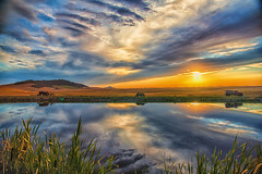 DSC_0625-Edit-Edit (rbelstad) Tags: palouse farm wheat steptoe tractor clouds reflection