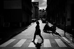 Walk (Maestr!0_0!) Tags: noir blanc black white people candid nantes rue street contrejour canon eos 6d