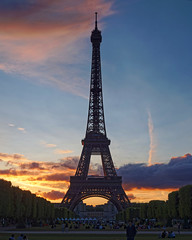 Sun Sets on the Eiffel Tower