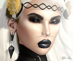 "Princess Goth (Mistic Aura ""Nevrose"") Tags: nevrose store creation mesh photoshop princess goth gothic piercing nose earring lips makeup headpiece headband girl women"