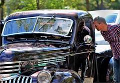 The American Dream (Gabi Wi) Tags: chevrolet pickup vehicle man dream inquisitiveness windshield collapsible reflections light fahrzeug mann traum neugier windschutzscheibe aufklappbar spiegelungen licht