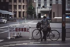 Waiting (Fajar Pangestu) Tags: sony sonya7 a7 tamron tamron9028 tamron90mm 90mm 90mmf28 candid streetphotography street bicycle man guy cinematic kyoto japan