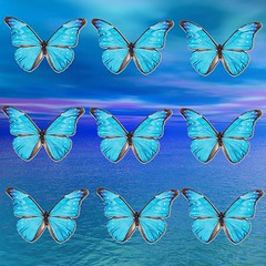 Blue Butterflies (ICARUSISMARTDESIGNS) Tags: butterflies abstract sunset blue cool trendy vintage fantasy art modern mythology magic alien cosmos universe galaxy artist digital unique pattern colorful popular color water flower red new white sky contemporary bright clear storm clouds metamorphosis evolution futuristic dimensions case geek retro landscape artistic graphic vivid fashion wings nature popsurrealism design ocean