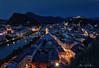 Shining Salzburg (Clear Of Conflict) Tags: salzburg salzburgo austria osterreich tyrol tirol summer ninght city night ligths blue hour hora azul cityscape landscape paisaje ciudad noche specland