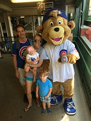 """Family Picture with Clark at Wrigley Field • <a style=""""font-size:0.8em;"""" href=""""http://www.flickr.com/photos/109120354@N07/36041603463/"""" target=""""_blank"""">View on Flickr</a>"""