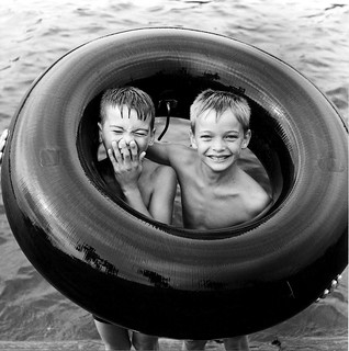 Boys in Tube, St. Lawrence, Montreal