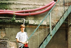 Ivan (_replicant) Tags: people city oldcity stairs building art street filmcamera nikonf65 35mm man family lviv europe urban
