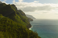 Kalalau Trail Evening (Matt Champlin) Tags: kalalau kalalautrail coast ocean amazing coastline rugged incredible hawaii kauai napalicoast napali exotic unbelievable pacific sunset hike hiking adventure canon 2017 mountains jungle sail sailing catamaran