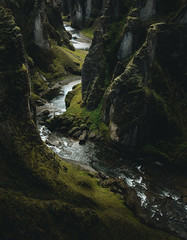 Mythical Fjaðrárgljúfur Canyon (tim.sharifsoltani) Tags: nature dark creek canyon gorge iceland landscape lowkey green mood valley mystic mystical cascades nikon d7100 light travel water river ngc