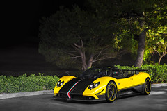 Pagani Zonda Cinque Roadster (Axion23) Tags: yellow pagani zonda cinque roadster newport beach california danami
