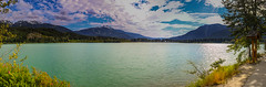 green lake (Discreet *(: [ )) Tags: lake mountain clouds water 24mm 7d mark ii iso 100 canon panorama discreet blue majestic scenic destination