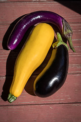 Zucchini and two eggplants (pbradyinct) Tags: various produce purple zucchini table eggplant aubergine good summer vegetarian grocery gardening fit black ripe meal yellow organic courgette shadow raw nutrition juicy whole plants fruit grow culinary vibrant ingredient assortment delicious healthy harvest garden assorted gourd food diet redwood variety squash veg freshness agriculture green fresh jigsaw vegetables homegrown