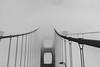 A Ghost in the Clouds (PeraltaC775) Tags: bridge sanfrancisco fog blackandwhite bw bridges goldengatebridge goldengate