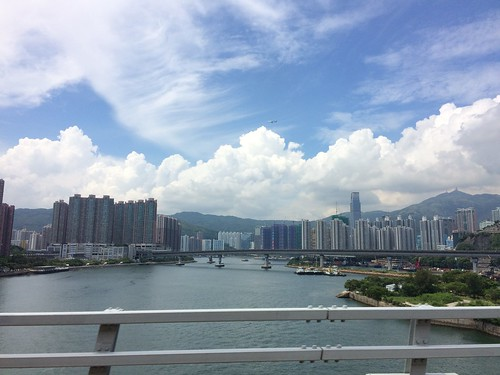 View of Tsuen Wan from Cheung Tsing Bridge - Hong Kong